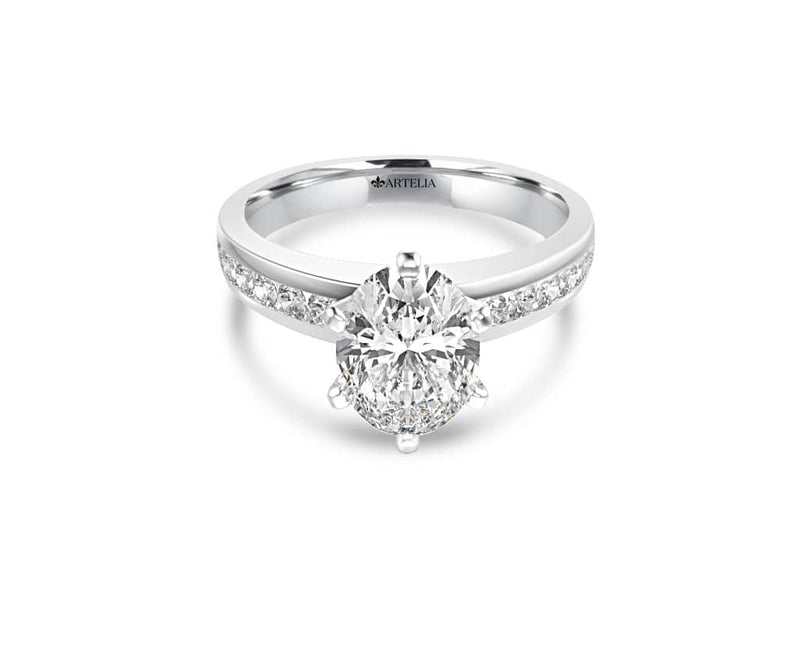 Oval Diamond Solitaire Ring (ARTSR055)