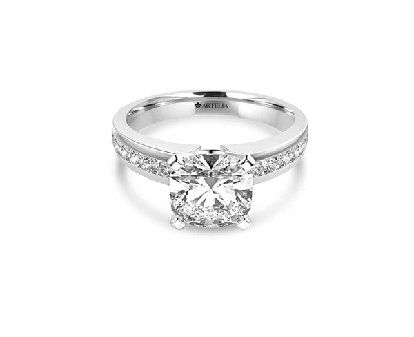 Cushion Diamond Solitaire (ARTSR056)