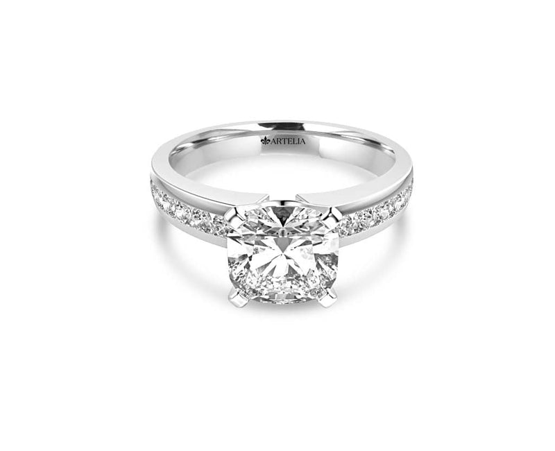 Cushion Diamond Solitaire Engagement Ring (ARTSR056)