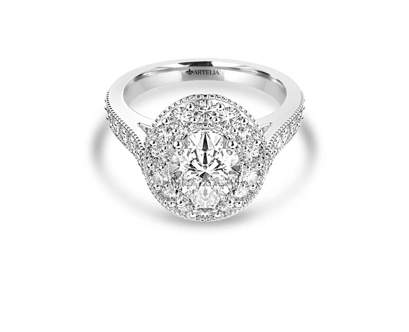Oval Diamond Halo Ring (ARTHR061)