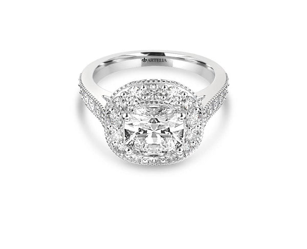 Cushion Diamond Halo Ring (ARTHR062)