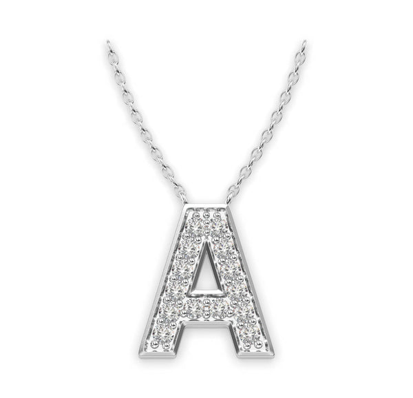 Diamond Initials Necklace A