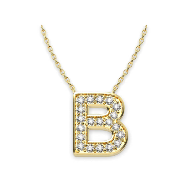 Diamond Initials Necklace B