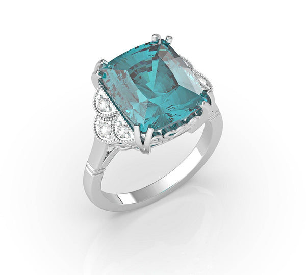 Aquamarine & Diamond Ring (ARTCR01)