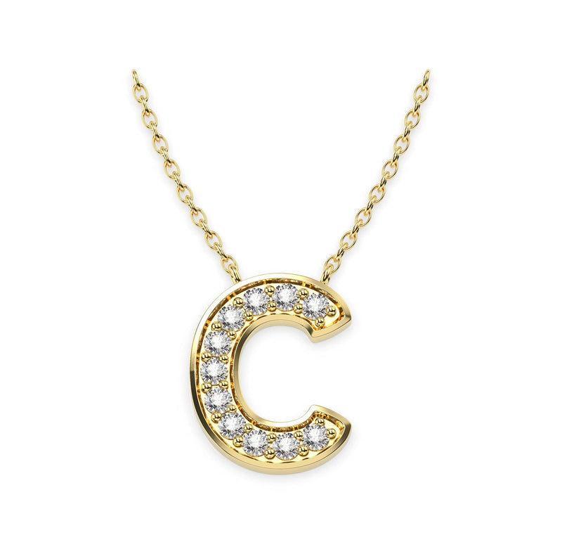 Diamond Initials Necklace C