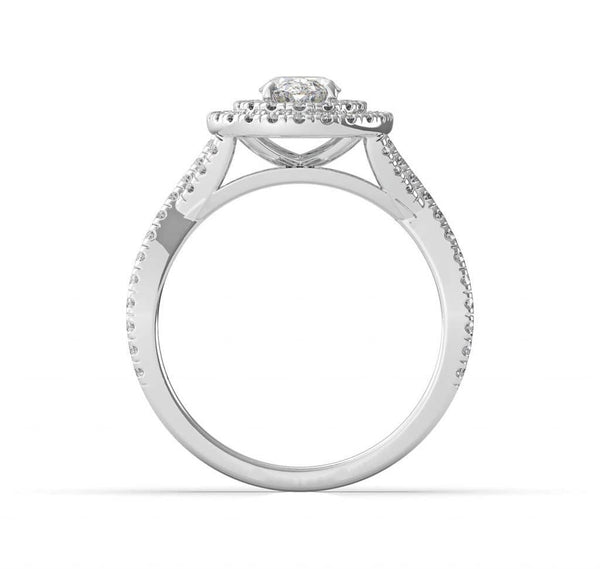 Oval Double Halo Engagement Ring (ARTDH01)