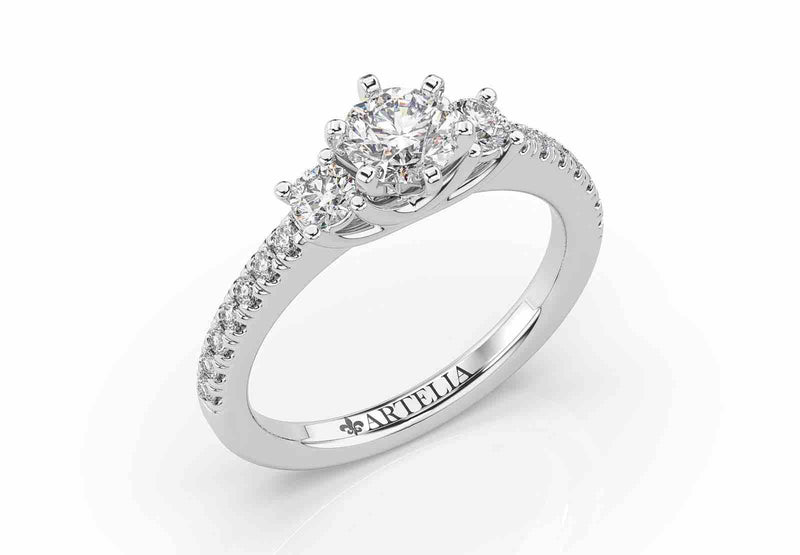Classic Diamond Trilogy Engagement Ring (ART101)