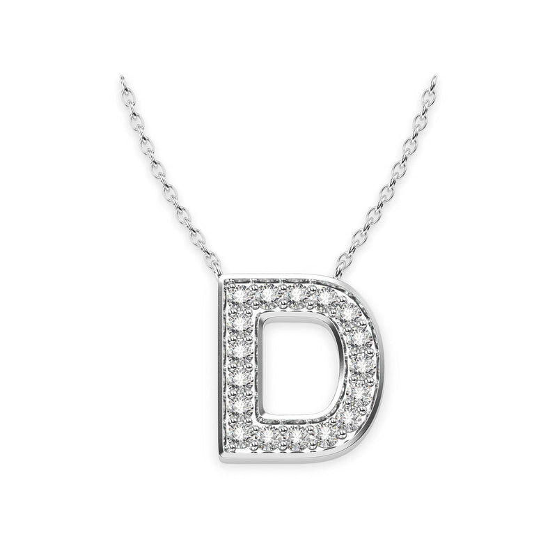 Diamond Initials Necklace D