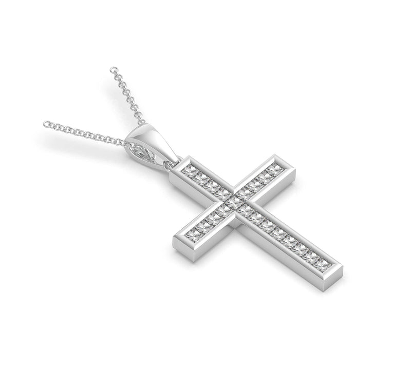 Princess Cut Diamond Cross (ARTDC101)