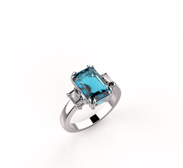 Diane Aquamarine & Diamond Ring (ARTC036)