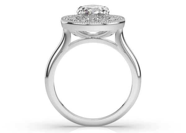 Oval Diamond Halo Ring (ARTHR048)