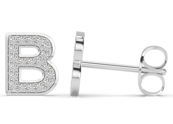 Initials diamond earring B