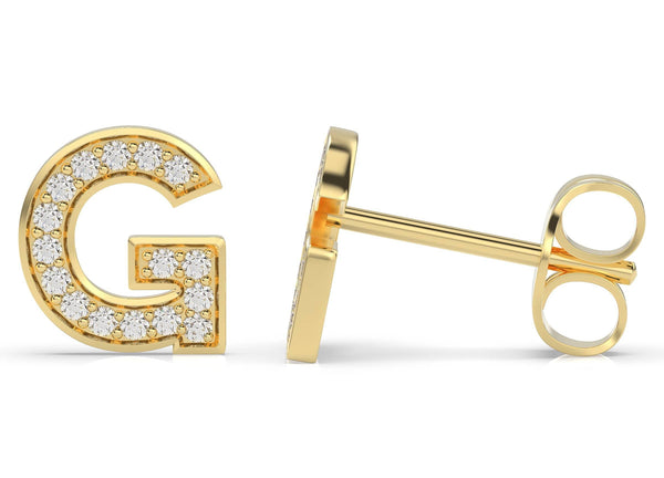 Initials Diamond Earring G