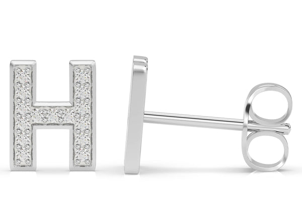 Initials Diamond Earring H