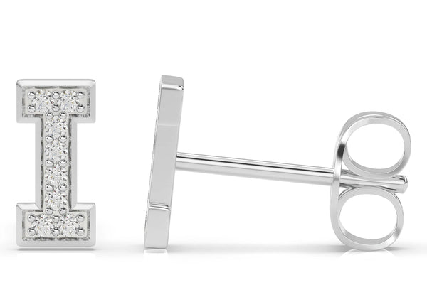 Initials Diamond Earring I