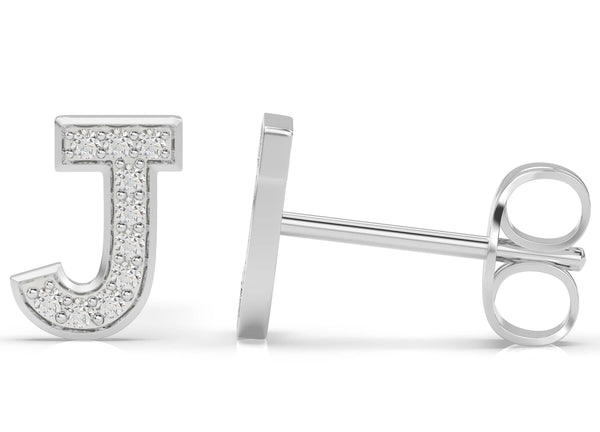 initials Diamond Earring J