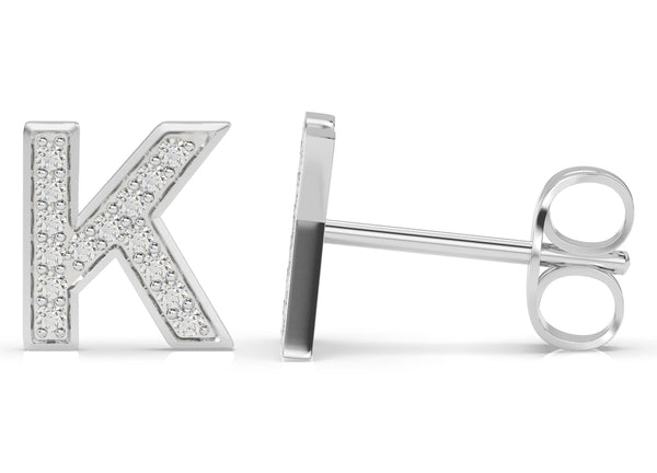 Initials Diamond Earring K