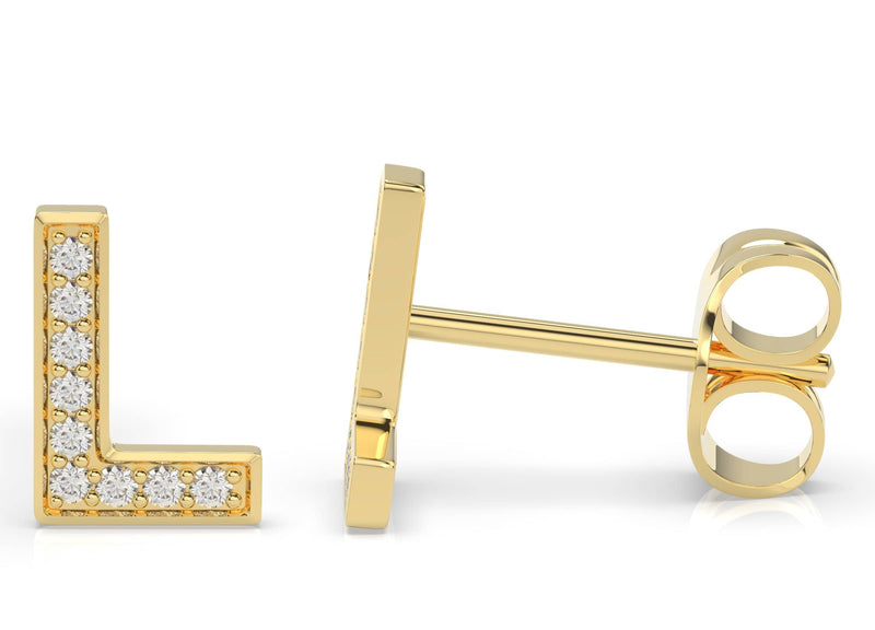 Initials Diamond Earring L