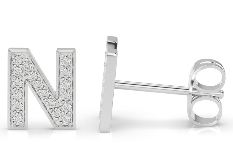Initials Diamond Earring N