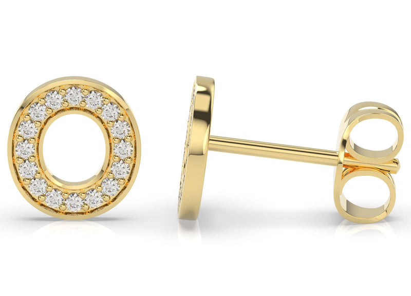 Initials Diamond Earring O