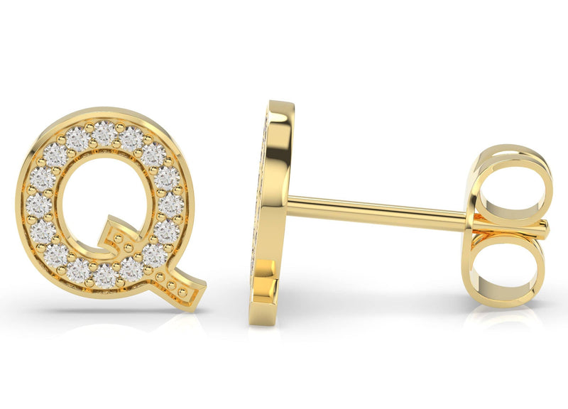 Initials diamond earring Q