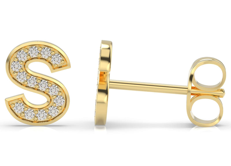 Initials Diamond Earring S