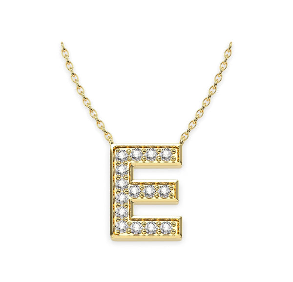 Diamond Initials necklace E