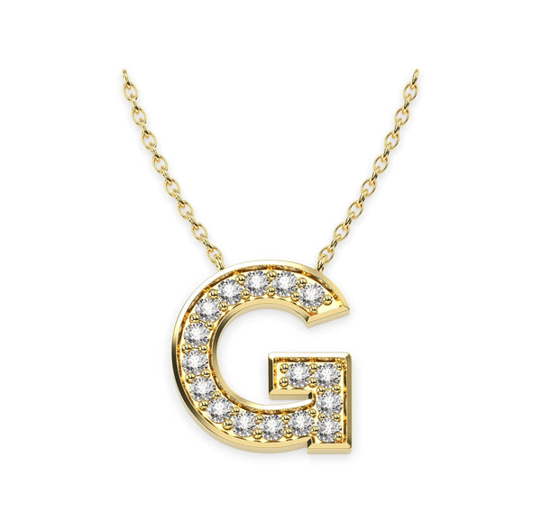 Diamond Initials Necklace G