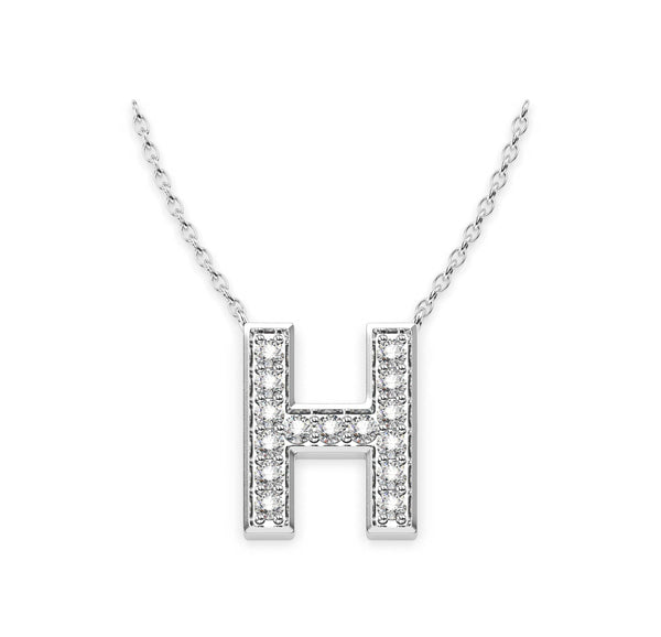 Diamond Initials Necklace H