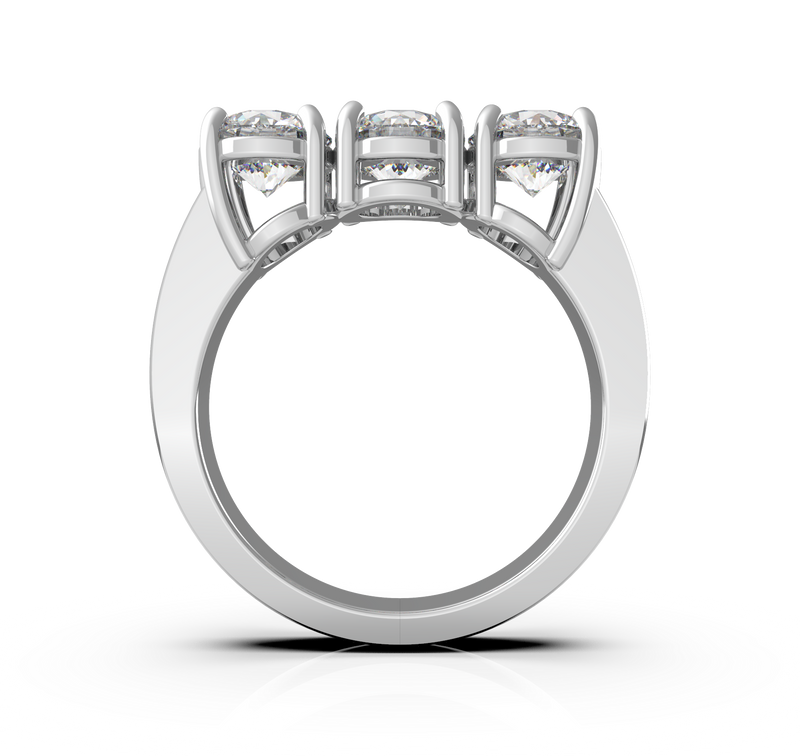 Round Diamond Trilogy Ring (ART033)