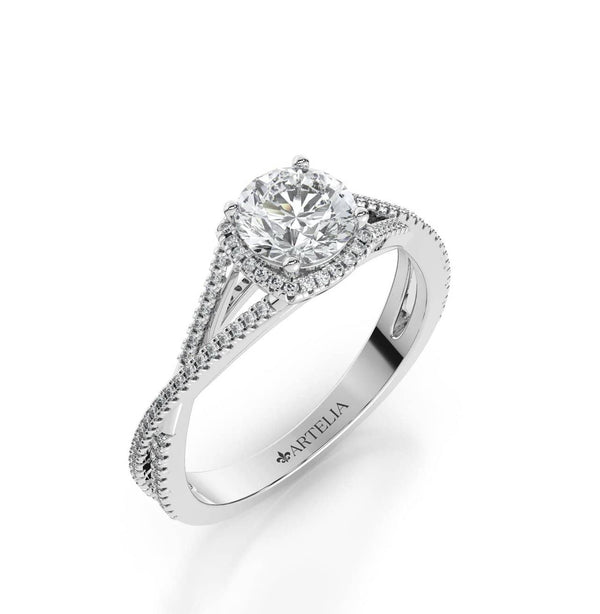 Round Diamond Halo Ring (ARTHR074)
