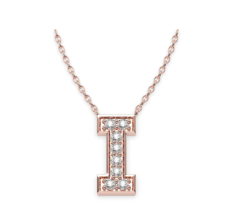 Diamond Initials Necklace I