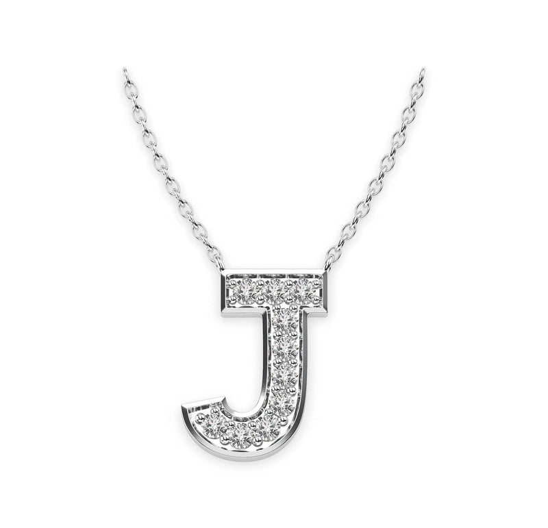 Diamond Initials Necklace J