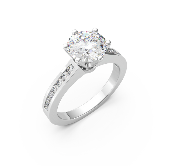 Round Diamond Solitaire Ring (ARTSR083)