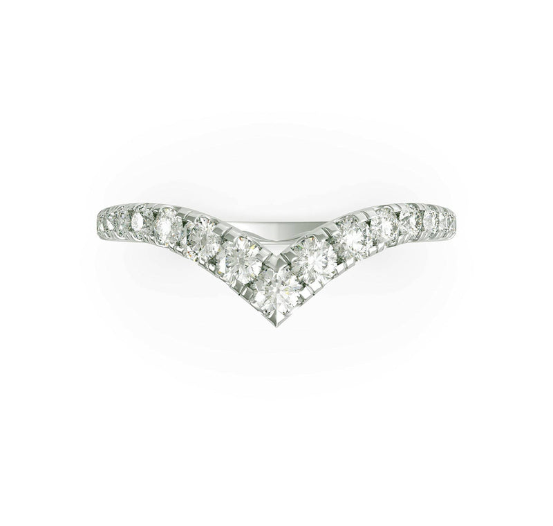 Round Brilliant Tapered Diamond Wedding Ring (ARTLDWR115)