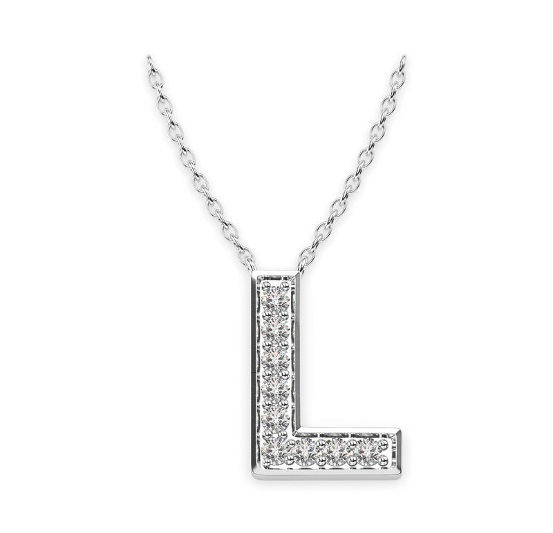 Diamond Initials Necklace L