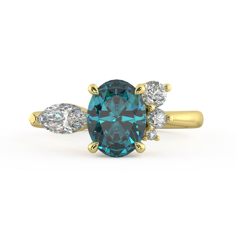 Allyra M Sapphire And Diamond Ring