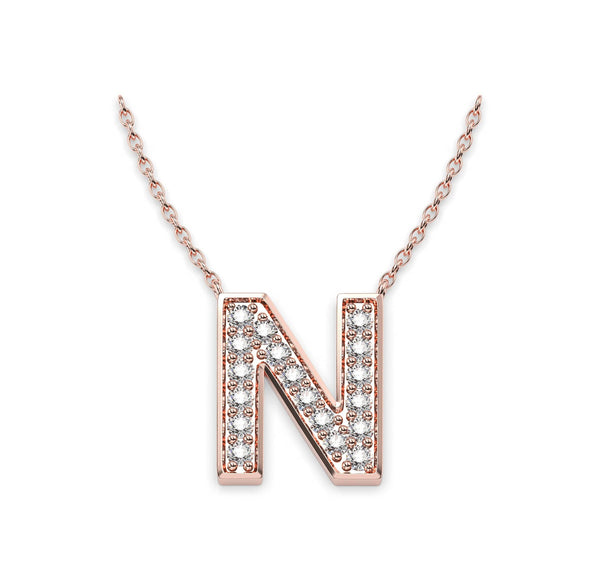 Diamond Initials Necklace N