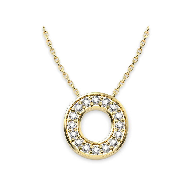Diamond Initials Necklace O