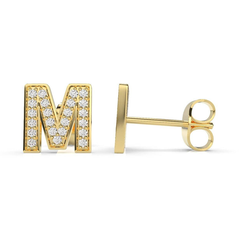 Initials Diamond Earring M