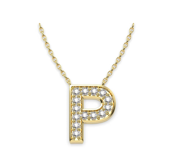 Diamond Initials Necklace P