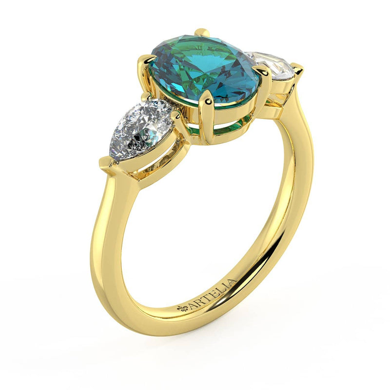 Allyra P Sapphire and Diamond Ring
