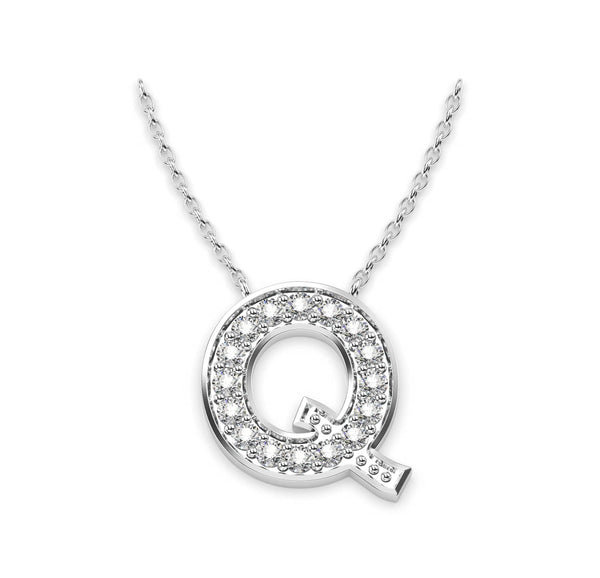 Diamond Initials Necklace Q
