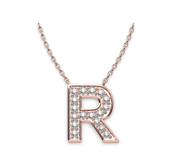 Diamond Initials Necklace R