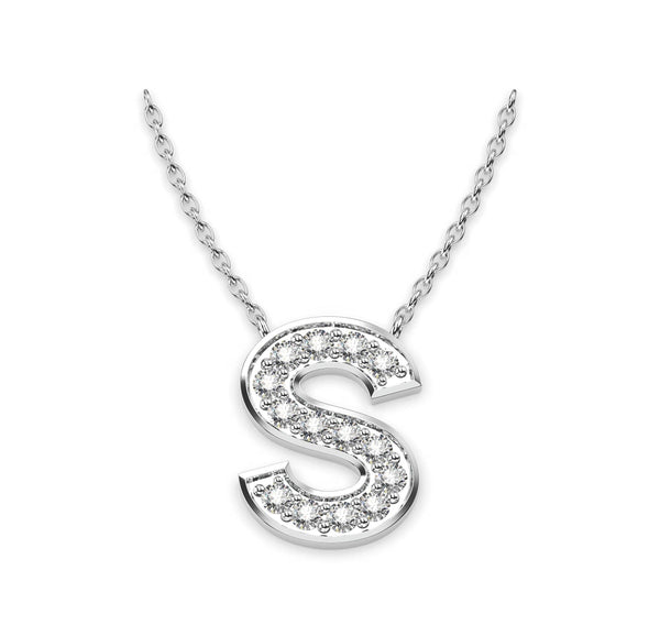 Diamond Initials Necklace S