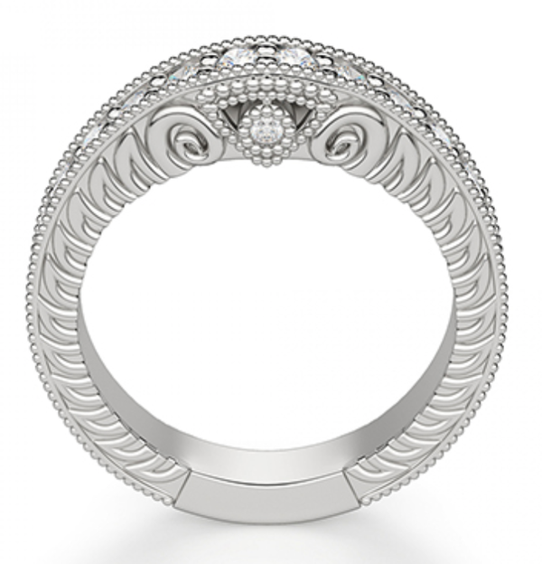 Antoinette Fitted Diamond Wedding Ring