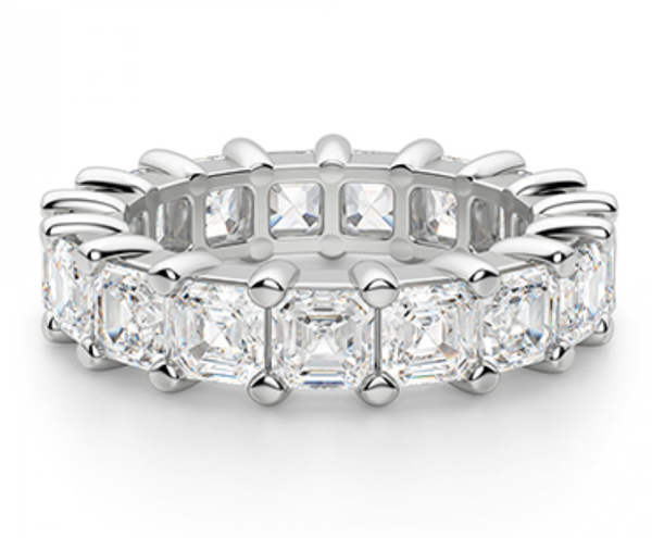 Radiant Diamond Wedding Ring