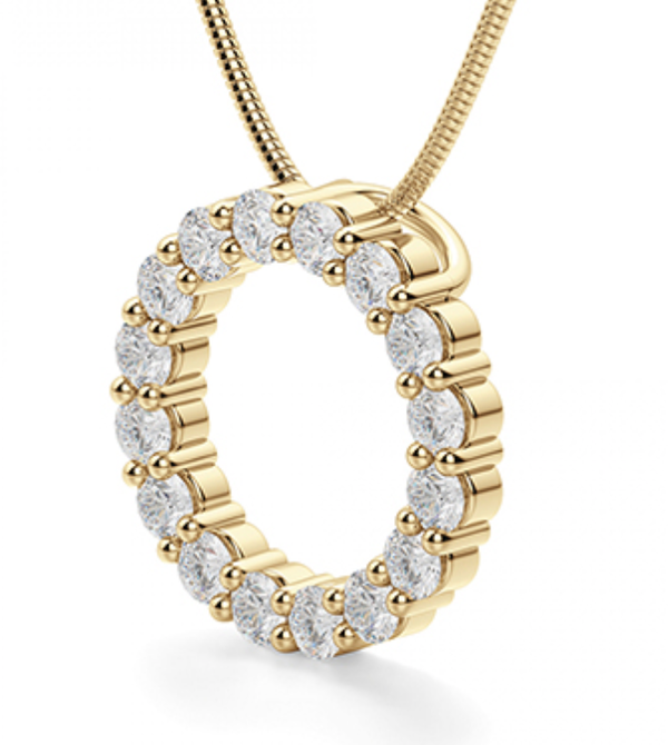 Athena Diamond Eternity Pendant
