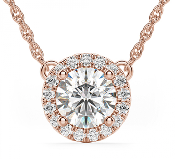 Cienna Diamond Halo Necklace