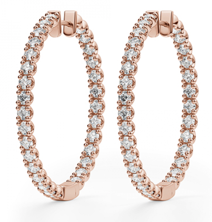 Rachel Diamond Hoop Earrings